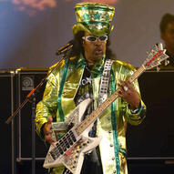 Bootsy Collins Rocking out on the Bass