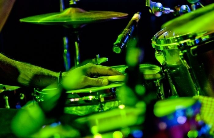 a-hinesville-drummer-performing-on-stage