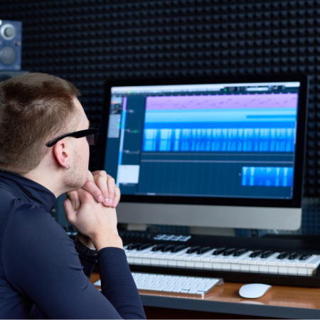London Music Production student