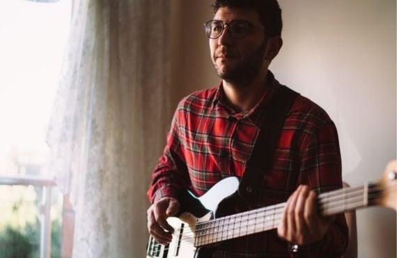 A New York Bass Guitarist Working on an Online Lesson